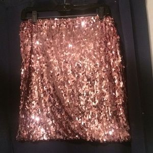 Dresses & Skirts - Pink Sequined Skirt